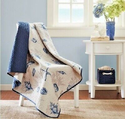 Nautical Quilted Throw Blanket Blue Shells Starfish Decorative Beach House GIFT](Nautical Throw)