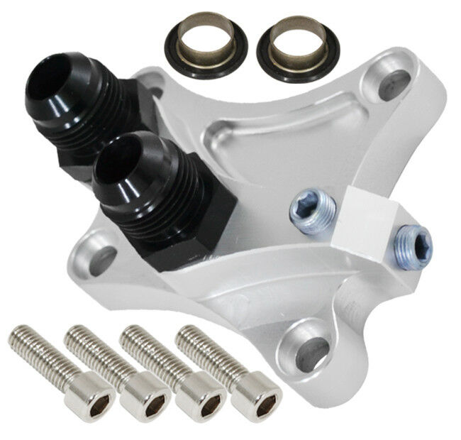 FOR S13 S14 SR20DET SR20 ENGINE OIL COOLER FILTER RELOCATION PLATE ADAPTER CH