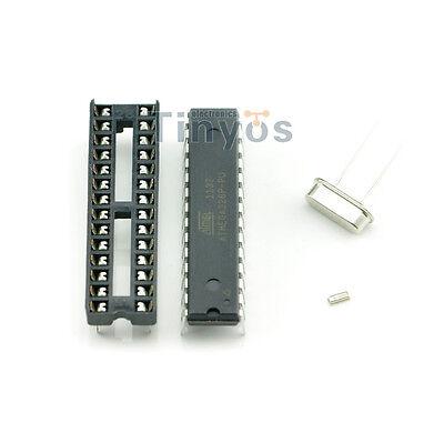 Atmega328p-pu With Arduino Bootloader Dip Socket 16mhz Crystal Kit