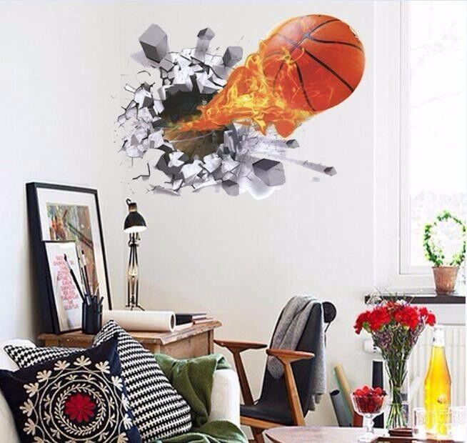 wandtattoo wandsticker basketball kind jugend ball spieler. Black Bedroom Furniture Sets. Home Design Ideas