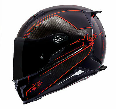 NEXX X.R2 Carbon Pure RED XR2 Full Face Racing Motorcycle Helmet S M L XL +