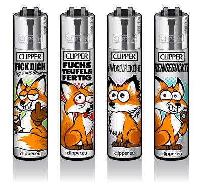 Clipper Classic Original Feuerzeug Serie 'Fuchs' 4 Stück - Original Serie