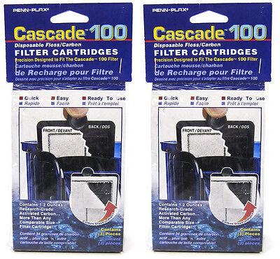 CASCADE 100 AQUARIUM POWER FILTER CARTRIDGES 6PK