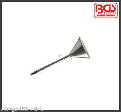 BGS - Funnel, Metal Finish - With Flexible Neck & Sieve - Pro Range - 8030