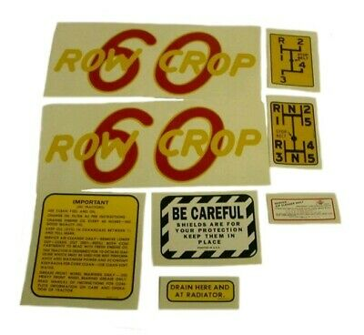 Oliver 60 Row Crop Tractor Decal Set 1940 To 1948