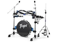 Traps A400 Acoustic Drumkit w. crash/ride and hi hat cymbals