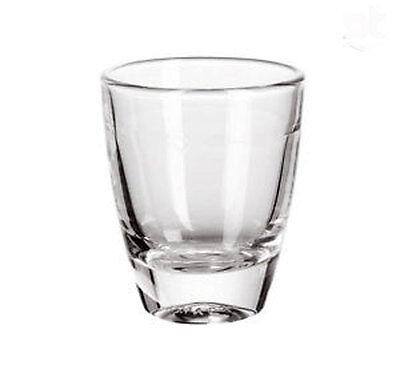 Paquete 24 vasos vidrio disparo cicchettino lleva imprimación de aluminio bisel