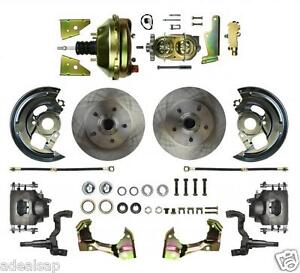 1964-1974 GM A, F, X -BODY - FRONT POWER DISC BRAKE CONVERSION KIT COMPLETE