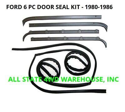 Window Sweep & Run Channel Weatherstrip Seals Kit for 80-86 Bronco F100 F150 250 Pc Running Windows