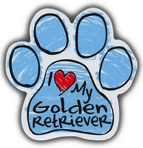 Scribble Paw Dog Magnets: I LOVE MY GOLDEN RETRIEVER | Cars, Refrigerators