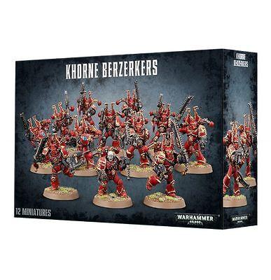 Chaos Space Marine Khorne Berzerkers Warhammer 40k Marines NEW