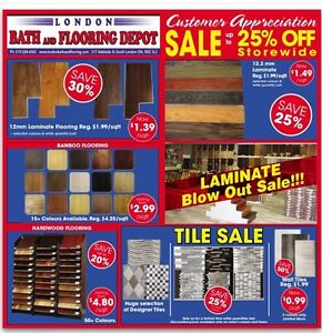 Hardwood  Laminate  Tiles  Vanity  Showers  Faucets  Toilets