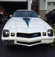 REDUCED PRICE 1980 Camaro Z28 White/Blue