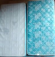 Clean and nice single mattress and box spring. Free delivery