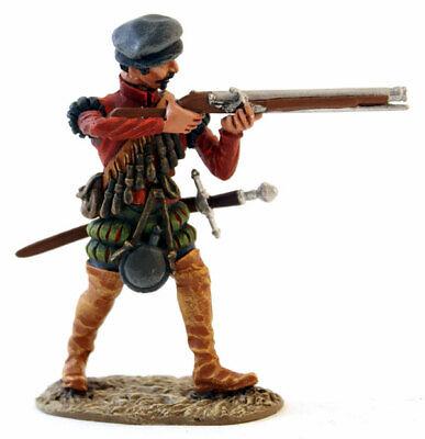 MORGAN MINIATURES CONQUISTADOR WEARING HAT STANDING FIRING ARQUEBUS - CON010b