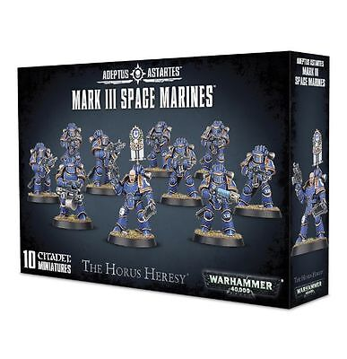Horus Heresy Burning of Prospero Mark III MK3 Space Marine Legion Squad Unboxed