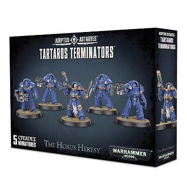 Warhammer 40K 30k Burning at Prospero Tartaros Terminators Squad (5) unboxed