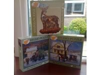 3 JIGSAW PUZZLES. TWO 500 PIECES. ONE 750 PIECES AND SHAPED.