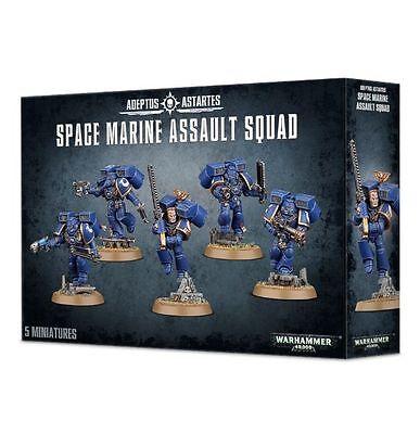Warhammer 40k Space Marine Assault Squad NEW