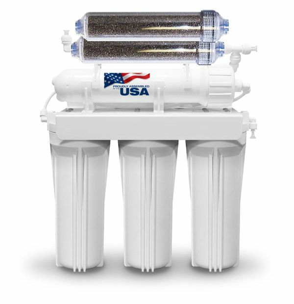 MADE IN USA 6 STAGE Aquarium Reef Reverse Osmosis Water RO/DI 200 GPD MEMBRANE
