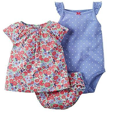 NEW Carter's Baby Girl's 3-Piece Diaper Cover Set- VARIETY