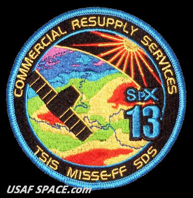 NEW SPX-13 - SPACEX CRS-13 NASA COMMERCIAL ISS RESUPPLY ORIGINAL AB Emblem PATCH
