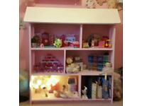 Large Girls dolls house bookcase storage