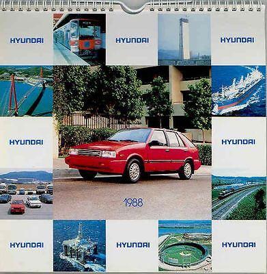1988 Hyundai Factory Table Calendar mx3601-KTQMGU