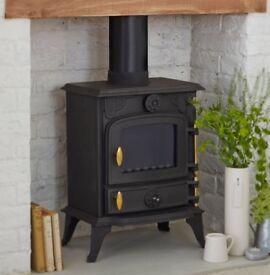 Cast iron log burner brand new