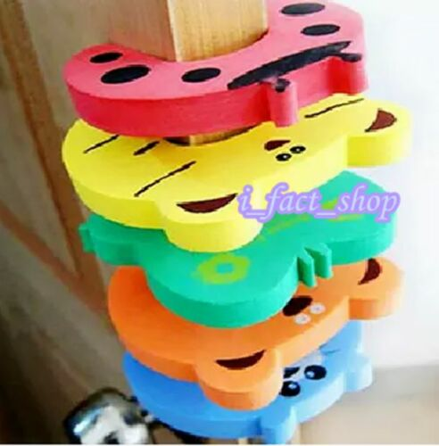 5x Baby Safety Animal Foam Door Jammer Guard Finger Protector Stoppers Home IFA