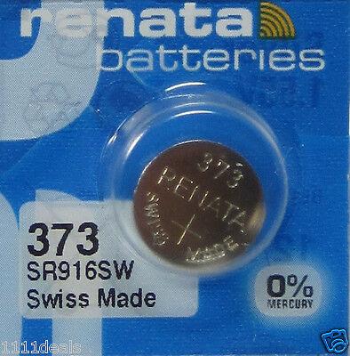 1 Renata 373 SR916SW Silver Oxide Watch Battery