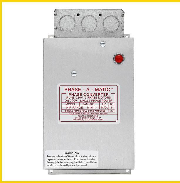 PAM-900 -  4-8 HP - 220 VAC - PHASE-A-MATIC PHASE CONVERTER