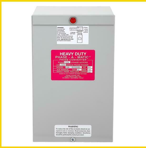 PAM-1800HDES -  12 - 18 HP - 220 VAC - PHASE-A-MATIC PHASE CONVERTER