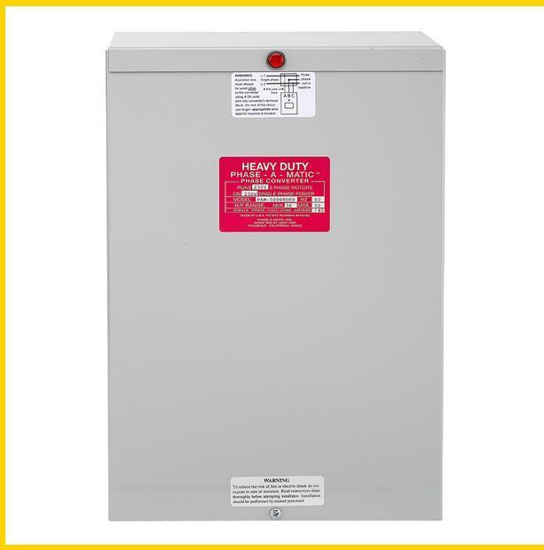 PAM-5000HDES -  30 - 50 HP - 220 VAC - PHASE-A-MATIC PHASE CONVERTER