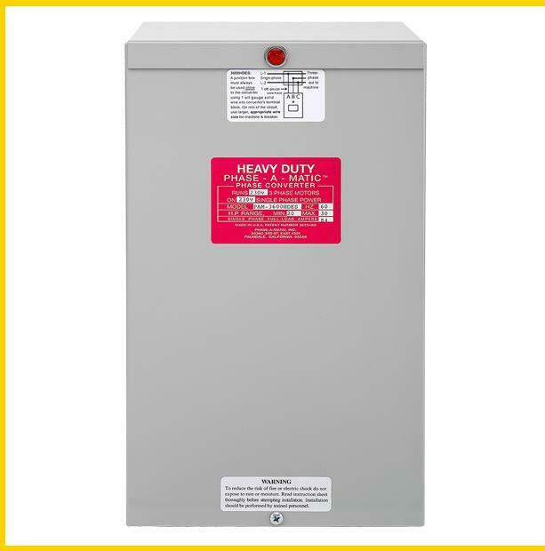 PAM-3600HDES -  20 - 30 HP - 220 VAC - PHASE-A-MATIC PHASE CONVERTER
