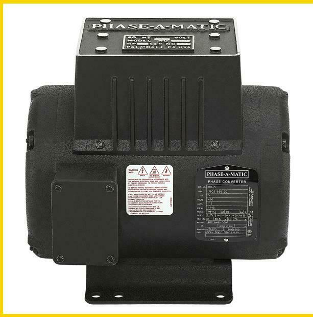 RH-5  5 HP - 460 VAC - PHASE-A-MATIC ROTARY PHASE CONVERTER