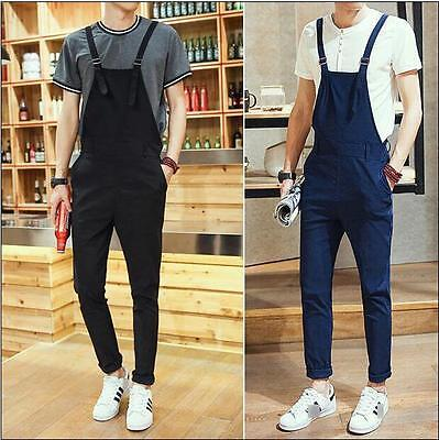 7374 New Men's Casual Straight Pants Overalls Suspenders Dungarees Jumpsuits