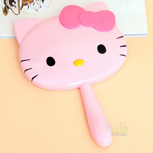 New Cute Hello Kitty Handheld Portable Make-up Mirror Cosmetic Mirror Gift