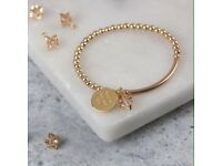 Star and personalised pendant bracelet
