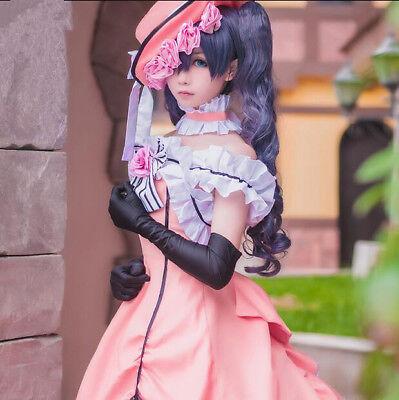 Black Butler Cosplay Damen Ciel Frauen Abendkleid karneval Manga (Ciel Cosplay Kostüm)