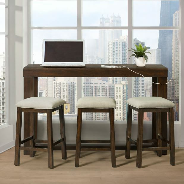 Bar Height Table Stool Chair Seat Power Home Office Furnitur