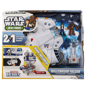 STAR WARS  - MILLENNIUM FALCON PLAYSKOOL JEDI FORCE GALACTIC HEROES IMAGINEXT