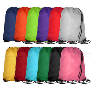 DRAWSTRING-SPORTS-GYM-SWIMMING-DANCE-WASH-BOOT-DUFFLE-BAG-BACKPACK-ALL-COLOURS