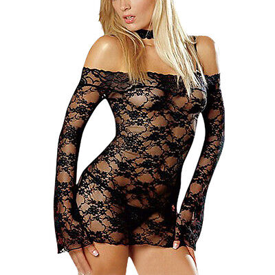 New Sexy Women Lady Underwear Babydoll Teddy Basque Dress Intimates Sleepwear J on Rummage