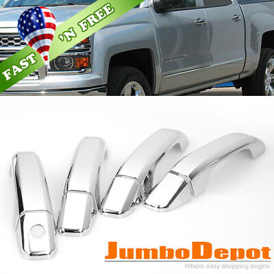US Triple Chrome Side Door Handle Cover Fit for Chevy Silverado Tahoe 2014-2018