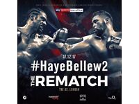 Tony Bellew vs David Haye @ The o2 (2 x Seated) will negotiate price 17 December 2017 at 5.00pm