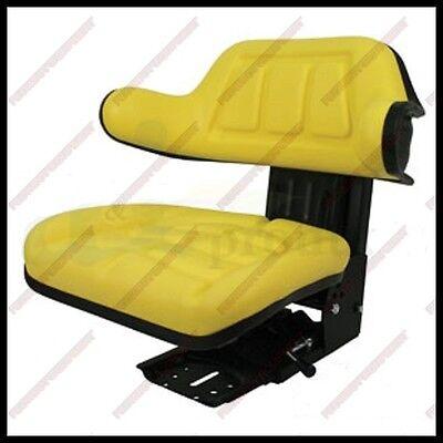 Universal Tractor Yellow Vinyl Seat For John Deere Tractor 265 Lb Rating