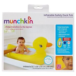 Munchkin Inflatable Safety Duck Tub - Yellow Mount Hawthorn Vincent Area Preview