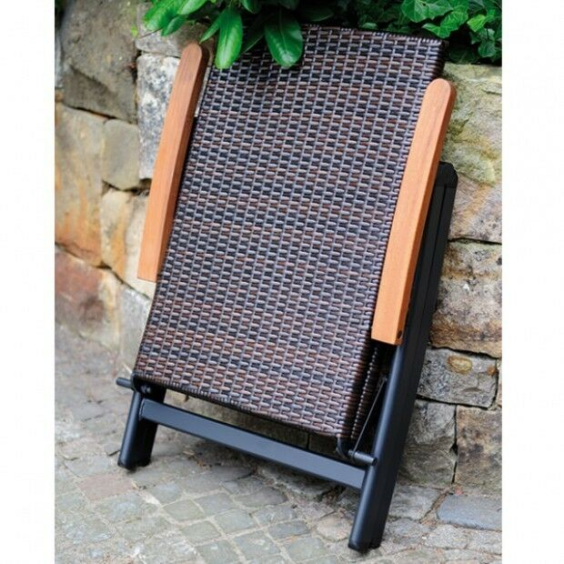 gartenst hle 2er set geflecht klappsessel sessel garten poly rattan klappbar eur 149 00. Black Bedroom Furniture Sets. Home Design Ideas