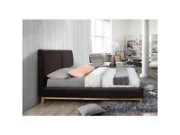Ashcroft Brown Bed Frame